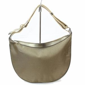 Khaki Gold Web Hobo 868683